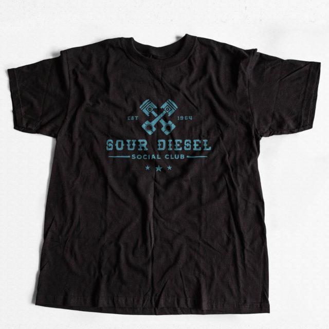 Sour Diesel Discreet Cannabis T Shirt