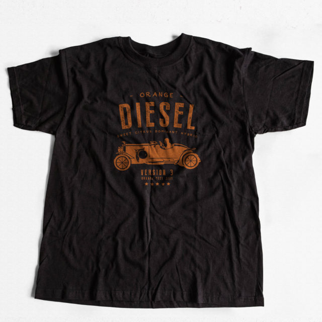 Orange Diesel V3 Cannabis T Shirt