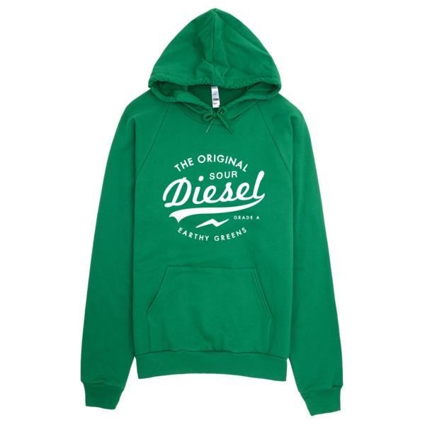 Sour Diesel Discreet Cannabis Strain Hoodie