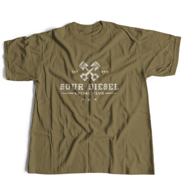 Sour Diesel Discreet Cannabis Strain T Shirt