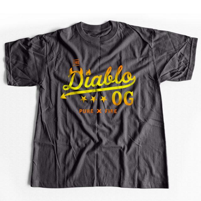 Diablo OG Cannabis T Shirt Heavy Metal